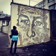 VHILS _ Outdoor Mural _  Paris 13, France