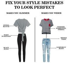 Fix You, Body Shapes, That Look, Light Blue, Capri Pants, Black Jeans, Stripes, Slim, Styling Tips