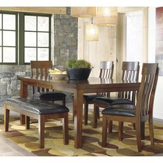 Ralene 6-Piece Dining Set in Medium Brown | Nebraska Furniture Mart