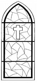 Cross Window Panel Stained Glass