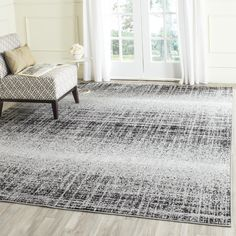 Found it at Wayfair - Costa Mesa Silver/Black Area Rug