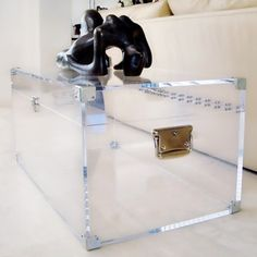 clear acrylic coffee table | overstock shopping - the best