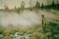 Norwegian Theodor Kittelsen (1857-1914) -Alfen det forsvant (The Fairy That Disappeared)