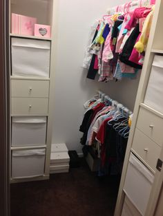 Nursery/bedroom 2 walk-in closet with storage organizers