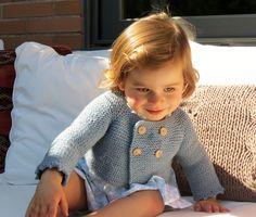 Cardigan-court Retro-Vintage en laine 100% pour Bébé : Mode Bébé par rose-de-roz