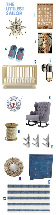 For Max's room- nautical baby