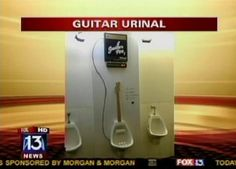 billboard magazine in brazil: urinal that plays guitar when sprayed with pee