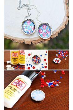 DIY Sequin Bottle Cap Necklace   Easy Summer Crafts for Girls   Click for Tutorial      Summer Crafts for Kids to Make