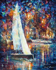 Blanco vela 2  sail pintura al óleo sobre por AfremovArtStudio