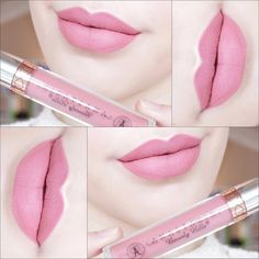 Ashton Liquid Lipstick (Midtone Yellow Brown) - Anastasia Beverly Hills Liquid Lipstick in Baby Pink - Lipgloss, Pink Lipsticks, Lipstick Shades, Lipstick Colors, Lip Colors, Makeup Lipstick, Liquid Makeup, Pink Matte Lipstick, Chanel Lipstick