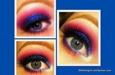 Blue and Pink w/ glitter - GlitterGirlC