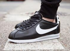JUST LIFE STYLE™®: Nike Cortez Leather PRM Black / White QS. Please Visit, repins, comments, likes Best regards..
