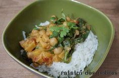 Caril de batata-doce com grão e espinafres | ratatui dos pobres