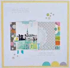 #papercraft #scrapbooking #layout    Right here by *paperandglue* - OA Midway