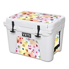 MightySkins Protective Vinyl Skin Decal for YETI Tundra 35 qt Cooler wrap cover sticker skins Fruit Water >>> Read more at the image link.-It is an affiliate link to Amazon. #CampKitchenEquipment