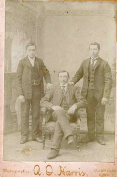 Syvde, Norway | HERE THEY ARE! - From left: John, Olaf, Knute - the brothers Ovregaard, my great uncles, my grandma Elisa's brothers