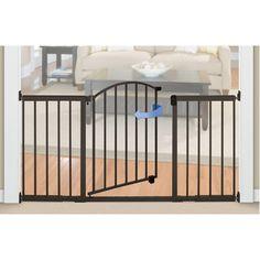 6 ft wide extra tall walkthru bronze pet dog baby safety expansion gate door
