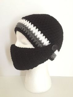Ski Hat with removable facemask by grammabeans on Etsy