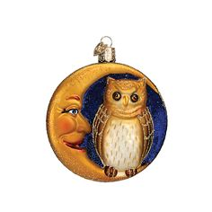 Owl in Moon Ornament from TheHolidayBarn.com