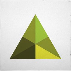 #126 Pyramid – A new minimal geometric composition each day