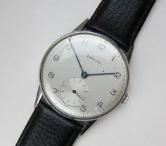 ZENITH vintage 1950s Watch sub-dial cal.12-4-P Ultra Slim Movement. Classic