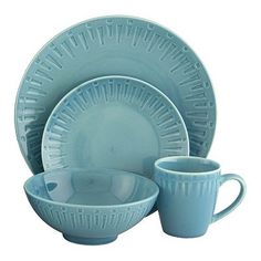 Sango dinnerware at Kohlu0027s - Your place settings will pop with color when you set the table with this vibrant Sango Contempo Dinnerware Set at Kohlu0027s.  sc 1 st  Pinterest & Sango Jewel Blue 16-pc. Dinnerware Set | ?? | Pinterest ...