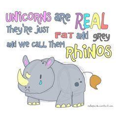 rhinos are just chubby unicorns