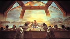 The Sacrament of the Last Supper, 1955 by Salvador Dali  #dali #paintings #art
