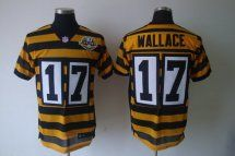 Pittsburgh Steelers #17 Mike Wallace Elite Yellow Black Throwbac