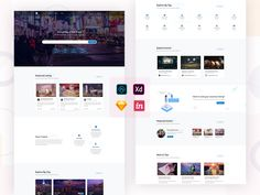 Hello Friends,This is a home page of Directory listing template. you can create beautiful directory listing site using this template. if you need any other page, contact me. Landing Page Design, Ui Design, Templates, Create, Friends, Beautiful, Amigos, Stencils, Template