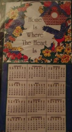 Bucilla Home is Where the Heart is Jeweled Calendar Kit 83003 1994  #Bucilla #Calendar