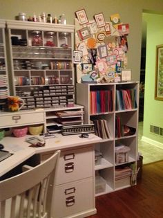 """Doodlers, Ink.: My craft room"" #furniture #painting #craftroom #inspiration"