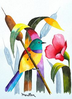 Original Watercolor Painting Birds Bird In Cattails Bird Etsy - Original Watercolor Painting Of A Bird In Cattails Very Colorful Bright And Cheerful X Inch Original Painting One Of A Kind Not A Print Name Is Bird In Cattails Watercolor Paper Is Arche Original Art, Original Paintings, Bird Paintings, Shabby Chic Wall Art, Bird Art, Watercolour Painting, Painting Inspiration, Art Projects, Birds
