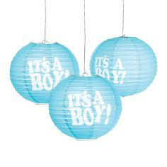 It's+a+Boy+Hanging+Paper+Lanterns+-+OrientalTrading.com