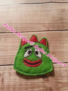 Green Monster Bro-B feltie sets by IsellusDesigns on Etsy