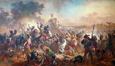 Batalha de Guararapes, Victor Meirelles. Museu de Belas Artes no Rio.