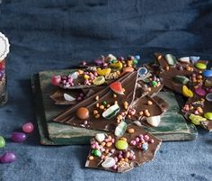 Leftover Trick or Treat Bark: Use up leftover ALLEN'S Lollies with this easy and great recipe! http://www.bakers-corner.com.au/recipes/allens/leftover-trick-or-treat-bark/
