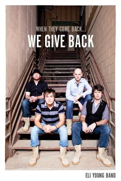 Eli Young Band wears the BOOTS to support the TROOPS!  www.bootcampaign.com