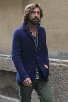 Andrea Pirlo Great Athlete. Great Hair. Great Beard. Great style. Apparently Pirlo is perfect.