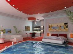 Awesome room with pool