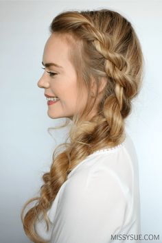 Rope braid is really multi-faceted and it looks special! See variations of impressive rope braid hairstyle. Easy Work Hairstyles, Twist Hairstyles, Pretty Hairstyles, Step Hairstyle, Indian Hairstyles, Wedding Hairstyles, Twist Ponytail, Twist Braids, Twists