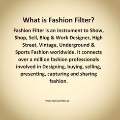 #fashionfilter #fashionfiltermarketplace