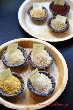 Milets, types of millets with health benefits, nutrition facts information. millets names in languages,  Sorghum, foxtail millet,little millet,barnyard millet,pearl  millet,finger millet,kodo,