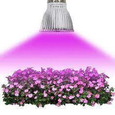 (Sponsored Link) LED Grow Light for small planting tents DIY hydroponics bonsai gardens US Grow Light Bulbs, Grow Lights For Plants, Indoor Flowering Plants, Indoor Flowers, Blue Led Lights, Led Grow Lights, Light Led, Led Pflanzenlicht, Led Lamp