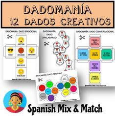 12 DICE TEMPLATES FOR SPANISH CLASS12 PLANTILLAS DE DADOS PARA LA CLASE DE ESPAÑOL¿Sabías que los dados son una excelente herramienta para combatir el aburrimiento, desarrollar la creatividad y motivar