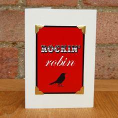 #greetingscards #typography #digitaldesign #handmade #christmas #christmascard #handmadechristmas #robin #rockinrobin