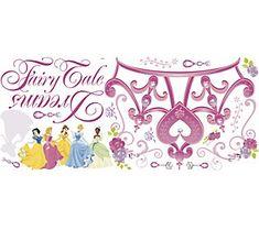 Beautiful RoomMates Disney Princess Crown Peel u Stick Giant Wall Decal