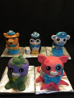 I made these Rice Krispie Treats Octonauts for my Sister-in-laws school class.