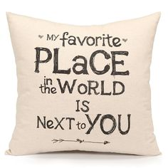 $9.81 - Acanva Decorative Accent Throw Pillow Cushion, With Pillowcase Cover Sham and Insert Filling, Inspirational Sweet Quote Print -