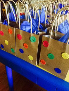 Pete the Cat Birthday Groovy Button Bags
